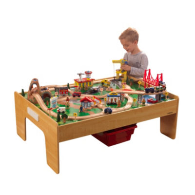 KidKraft Adventure Town Railway Train Set & Table with EZ Kraft Assembly™