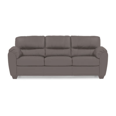 Leather Possibilities Quick Ship Metro Pad Arm Sofa