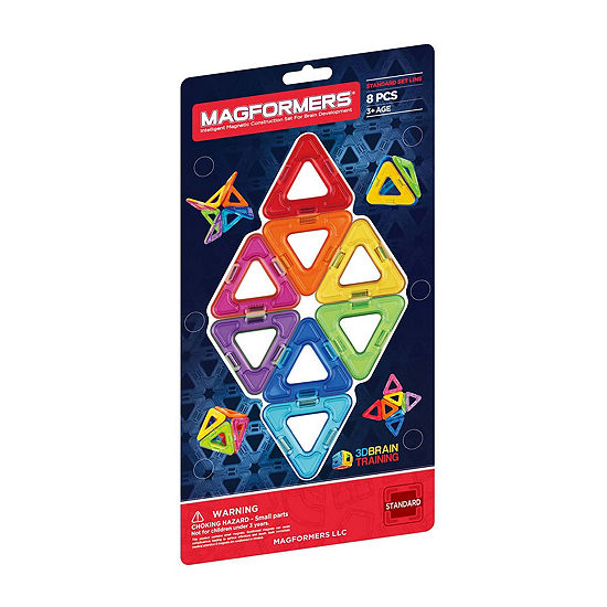 Magformers Triangles 8 Piece Magnetic Construction Set
