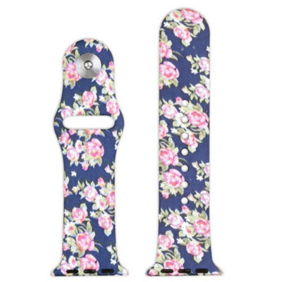 Olivia Pratt Compatible With Apple Watch Unisex Blue Watch Band-8844navyfloral42