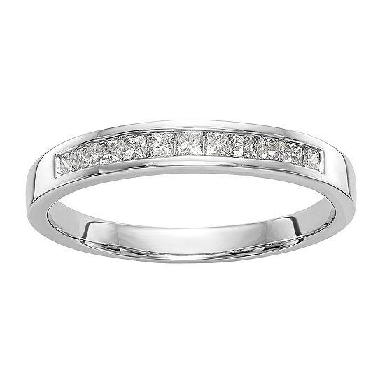 2MM 1/3 CT. T.W. Genuine White Diamond 14K White Gold Wedding Band