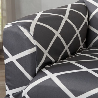 Tori Collection Stretch Diamond Printed Love Seat Slipcovers