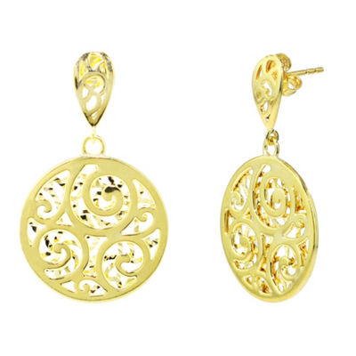 Sechic 14K Gold Drop Earrings