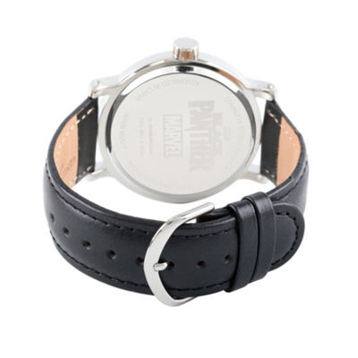 Black Panther Mens Black Strap Watch-Wma000274