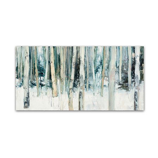 Trademark Fine Art Julia Purinton Winter Woods Iiigiclee Canvas Art