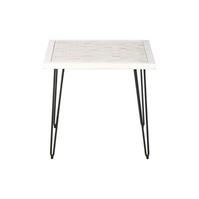 Ink+Ivy Woodbrick End Table