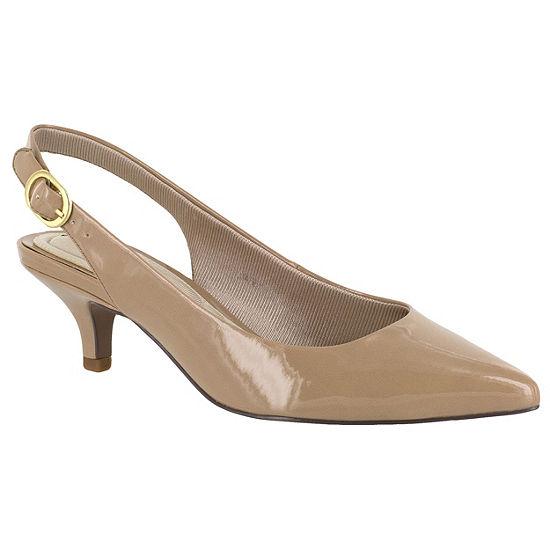 Easy Street Womens Faye Pumps Pointed Toe Kitten Heel