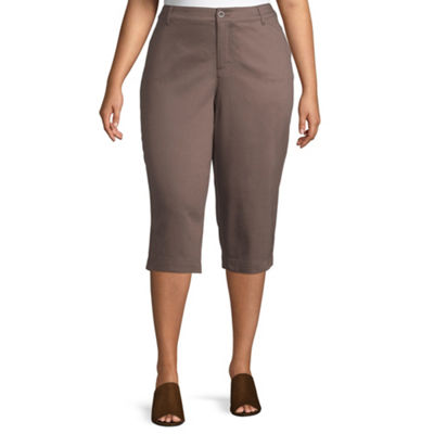 St. John's Bay Secretly Slender Twill Crop Pant - Plus