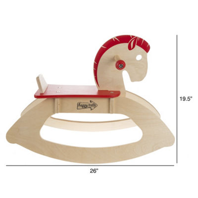 Happy Trails Wooden Rocking Horse