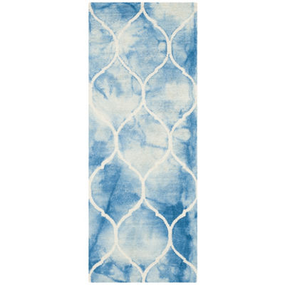 Safavieh Dip Dye Collection Nick Geometric RunnerRug