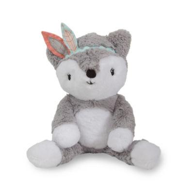 Lambs & Ivy Little Spirit Gray Plush Fox - Cheyenne Stuffed Animal