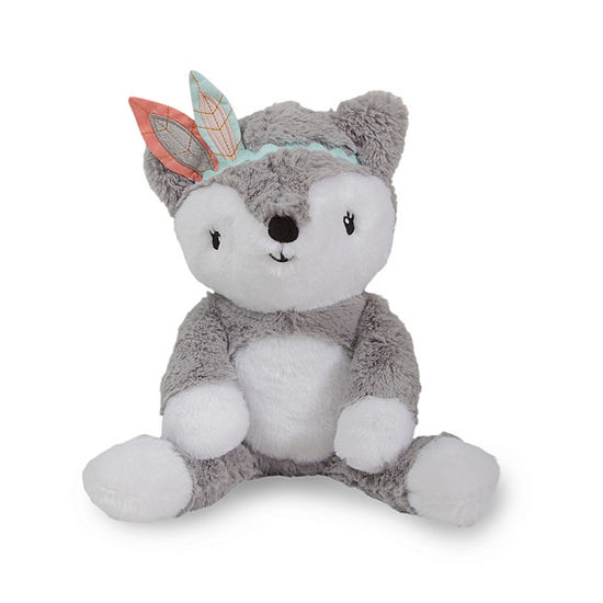 Lambs & Ivy Little Spirit Gray Plush Fox - Cheyenne