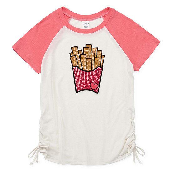 Arizona Side Cinch Embroidered Tee - Girls' 4-16 & Plus