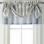 JCPenney Home Sullivan Floral Layered Rod-Pocket Tailored Valance