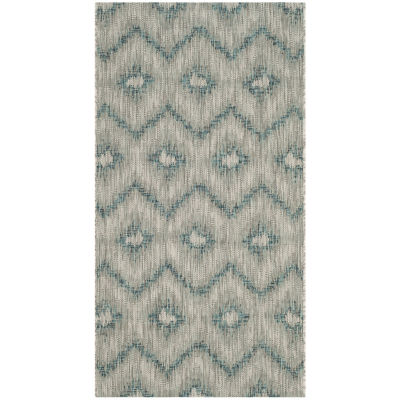 Safavieh Courtyard Collection Lexine Chevron Indoor/Outdoor Area Rug