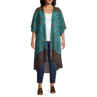 Self Esteem Elbow Sleeve Kimono-Juniors Plus