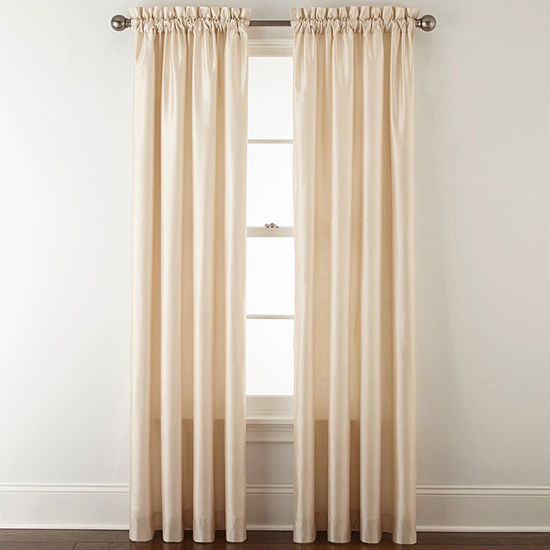 JCPenney Home Plaza Energy Saving Light-Filtering Rod-Pocket Single Curtain Panel