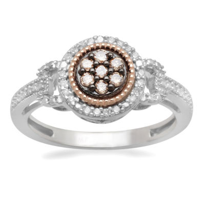 LIMITED QUANTITIES! Womens 1/4 CT. T.W. Champagne Diamond 10K Gold Over Silver Cocktail Ring