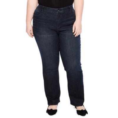 Liz Claiborne Flexi Fit Bootcut Denim Pant - Plus