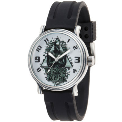 Black Panther Mens Black Strap Watch-Wma000275