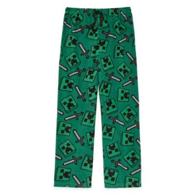Boys Knit Pajama Pants Minecraft