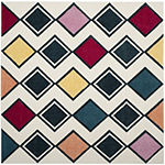 Safavieh Hollywood Collection Stripes Geometric Square Area Rug