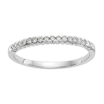 Womens 1/10 CT. T.W. White Diamond 14K White Gold Cluster Band