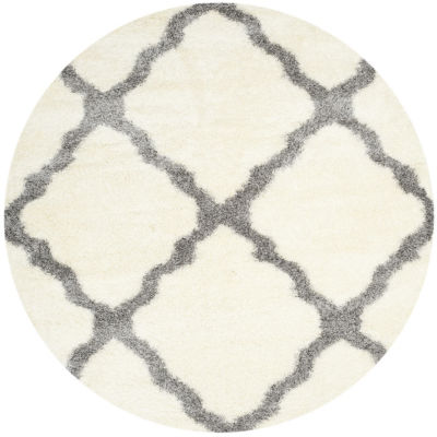 Safavieh Montreal Shag Collection Grover Geometric Round Area Rug