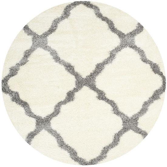 Safavieh Montreal Shag Collection Grover Geometric Round Area Rug