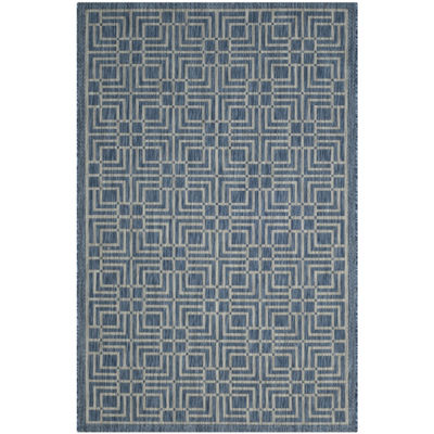 Safavieh Courtyard Collection Adelaide Geometric Indoor/Outdoor Area Rug