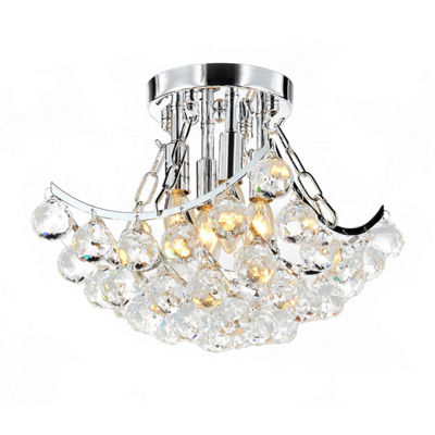 Warehouse Of Tiffany Bowl Crystal Chandelier