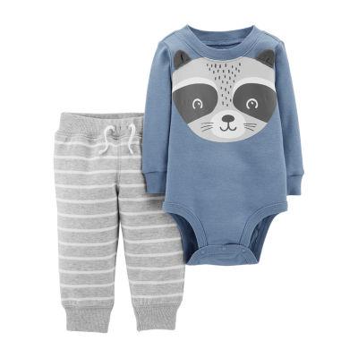 Carter's Raccoon Bodysuit Pant Set- Baby Boy