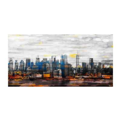 New York Colors Painting Print on Wrapped Canvas