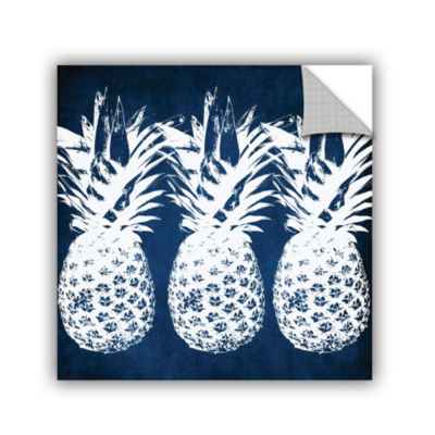 Indigo Pineapple Removable Wall Decal
