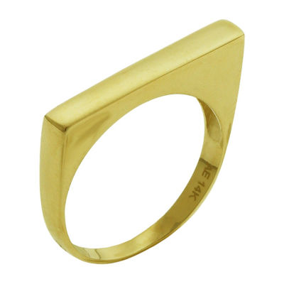 Made In Italy Womens 14K Gold Cocktail Ring