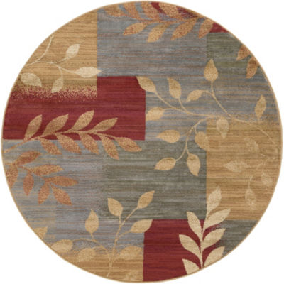 Tayse Ditton Transitional Abstract Round Area Rug