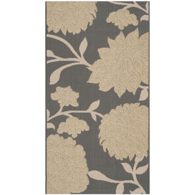Safavieh Courtyard Collection Bertha Floral Indoor/Outdoor Area Rug