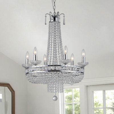 Warehouse Of Tiffany Crystal Chrome Finish Pendant Lamp