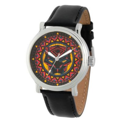 Black Panther Mens Black Strap Watch-Wma000276