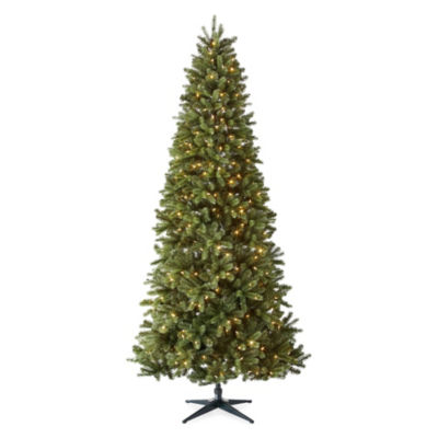 North Pole Trading Co. 9 Foot Tuscany Pre-Lit Multi-Function Lights Christmas Tree