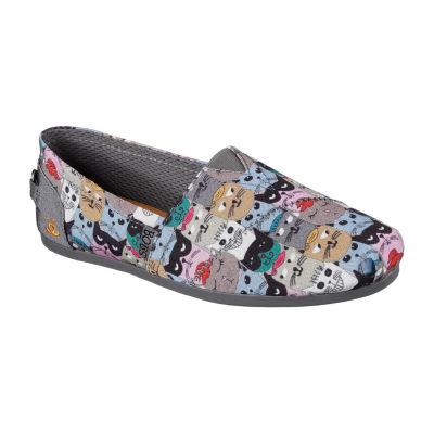Skechers Bobs Plush Womens Walking Shoes Slip-on