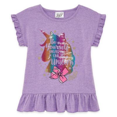 JoJo Siwa Crew Neck Short Sleeve Blouse - Preschool Girls
