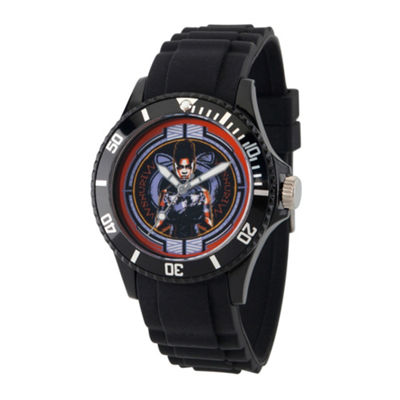 Black Panther Mens Black Strap Watch-Wma000277