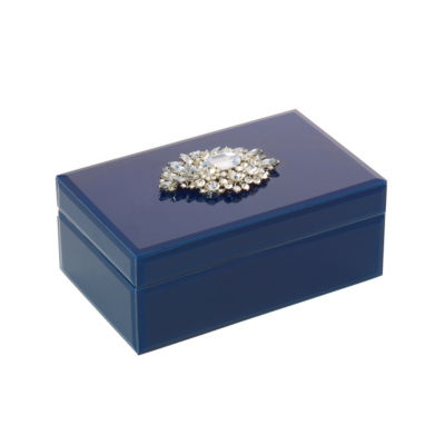 Mikasa Glass Jewelry Box Decorative Box