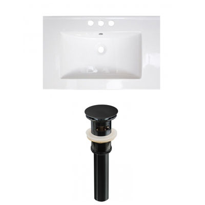 21-in. W 3H4-in. Ceramic Top Set In White Color -Overflow Drain Incl.