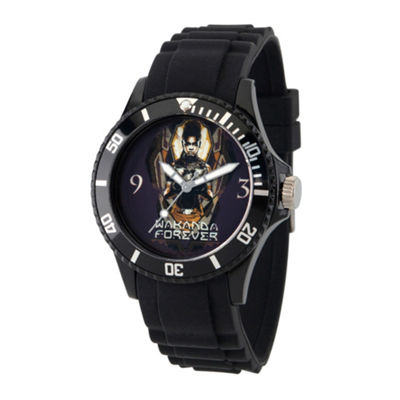 Black Panther Mens Black Strap Watch-Wma000278