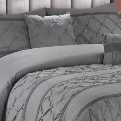 Hope 5-pc. Ruched Texture Solid Bedding Set