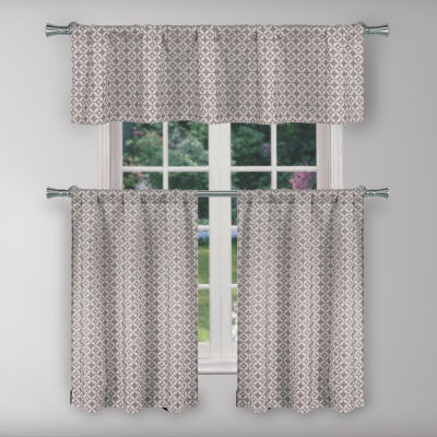 Duck River Enyo 3-Piece Kitchen Curtain Set