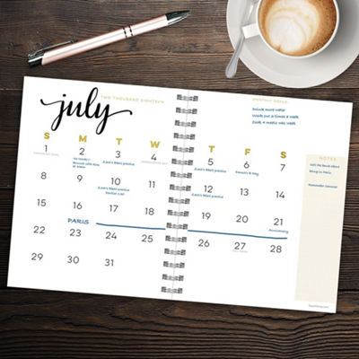 Tf Publishing July 2018 - June 2019 Dots Medium Weekly Monthly Planner