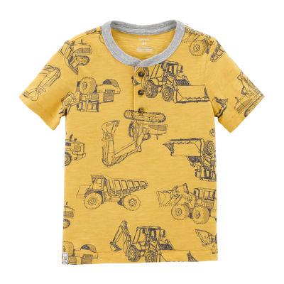 Carter's Short Sleeve Henley Neck T-Shirt-Toddler Boys